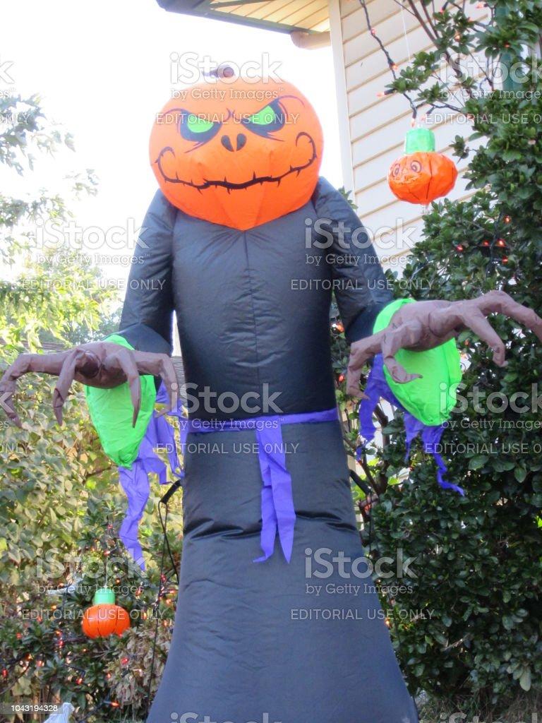 Spirit of Halloween Decoration in Daylight stock photo