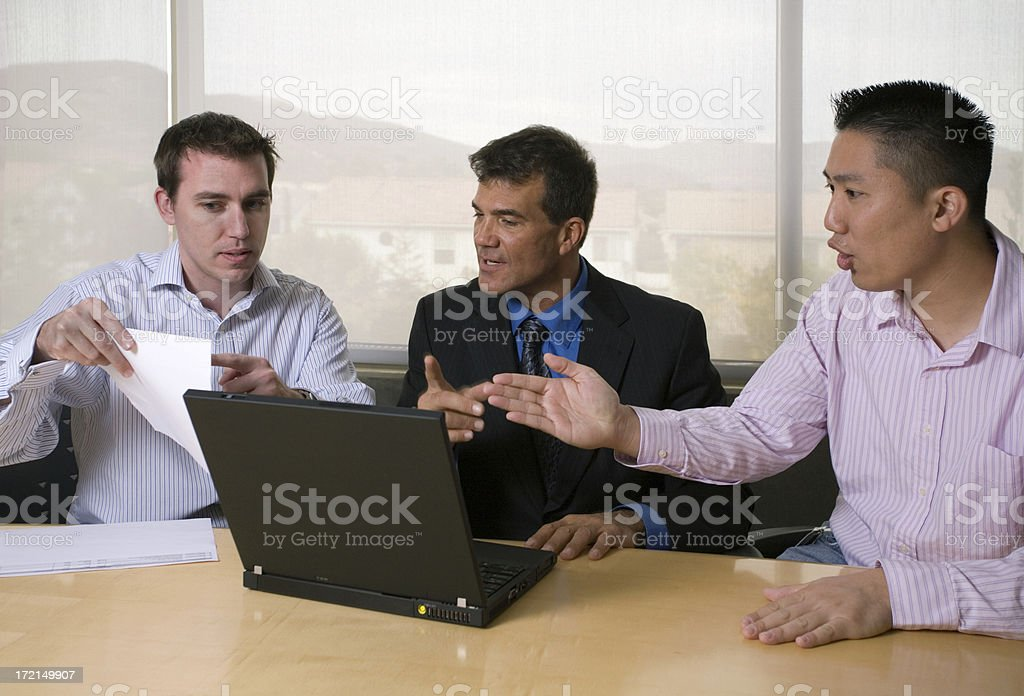 Spirited Business Discussion royalty-free stock photo