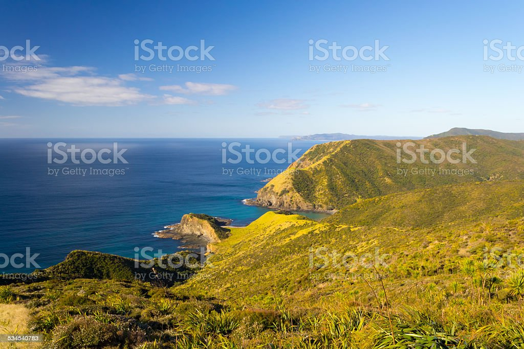 Spirits Bay in a bright day stock photo
