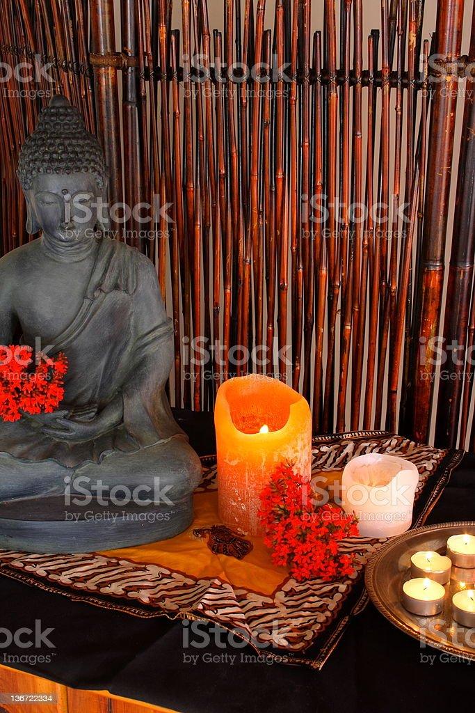 Spiritual altar stock photo