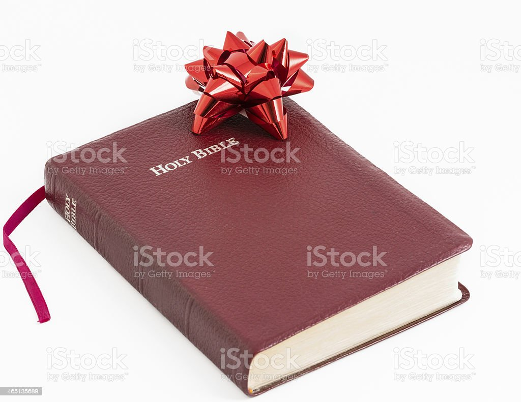 Spiritual Gift .The Bible, Word of God as Valuable Present stock photo