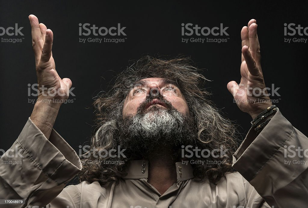 Spiritual Man stock photo