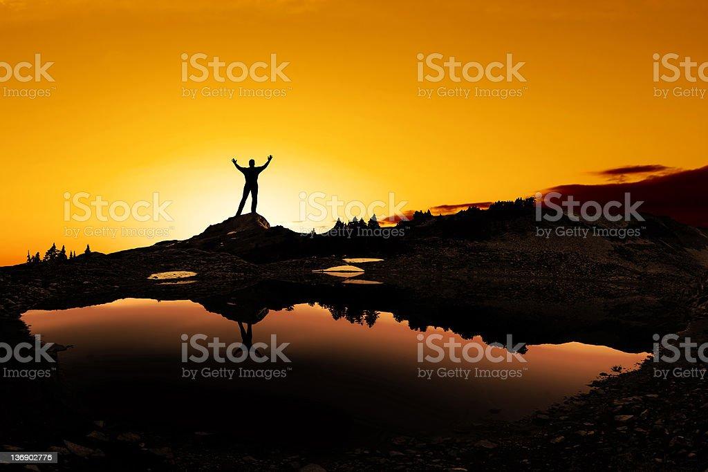 spiritual man silhouette royalty-free stock photo