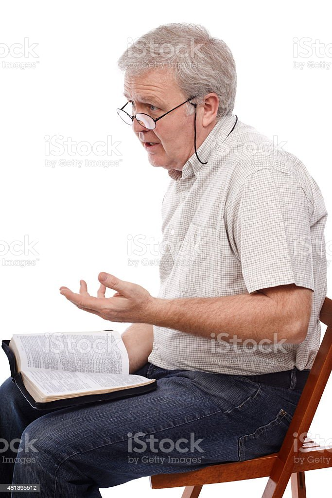 Spiritual talk stock photo