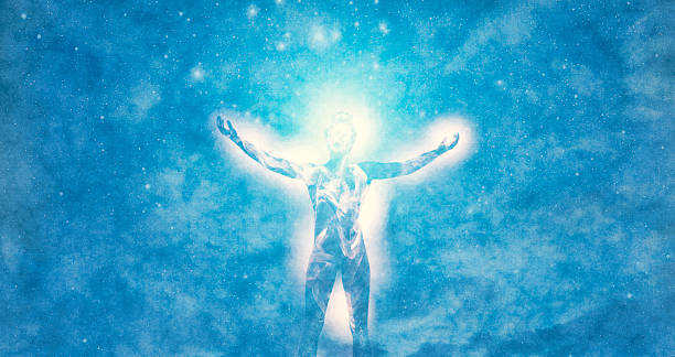 spirituality and cosmic energies - aura stock photos and pictures