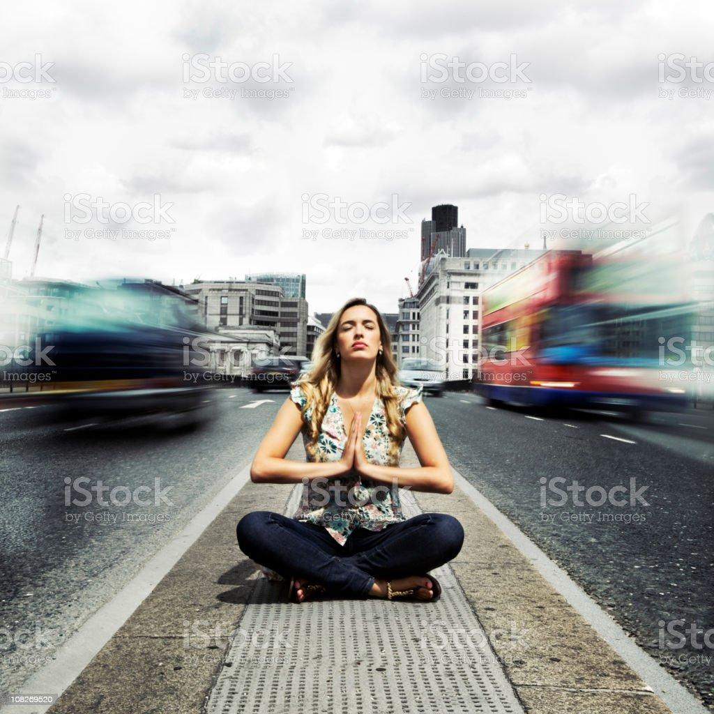 Spiritualität und urban zen, meditation in eine schnelllebige Welt – Foto