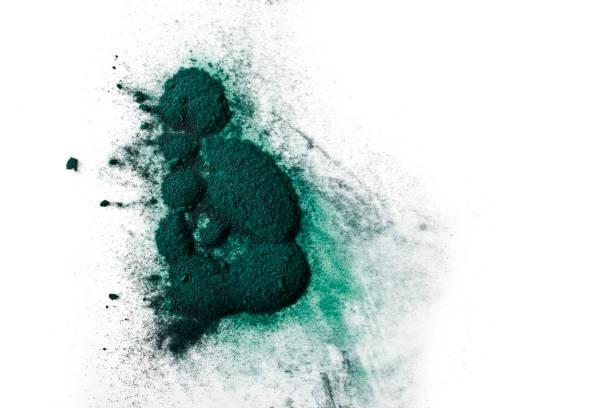 spirulina alger pulver - spirulinabakterie bildbanksfoton och bilder