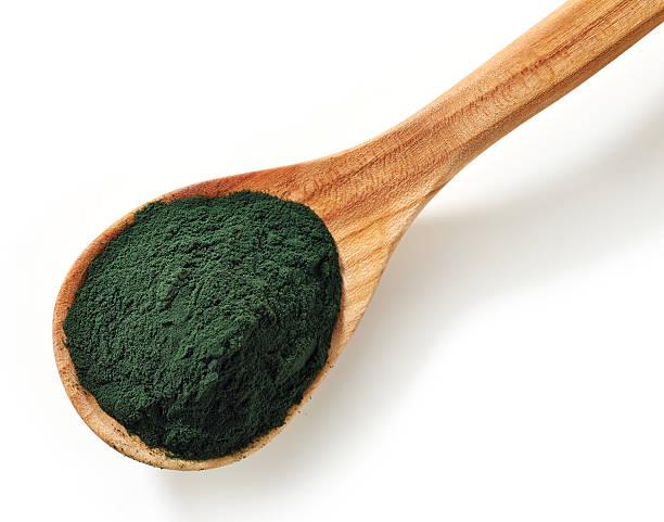 spirulina algae powder - spirulinabakterie bildbanksfoton och bilder