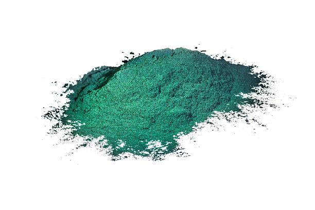 spirulina isolated on white - spirulinabakterie bildbanksfoton och bilder