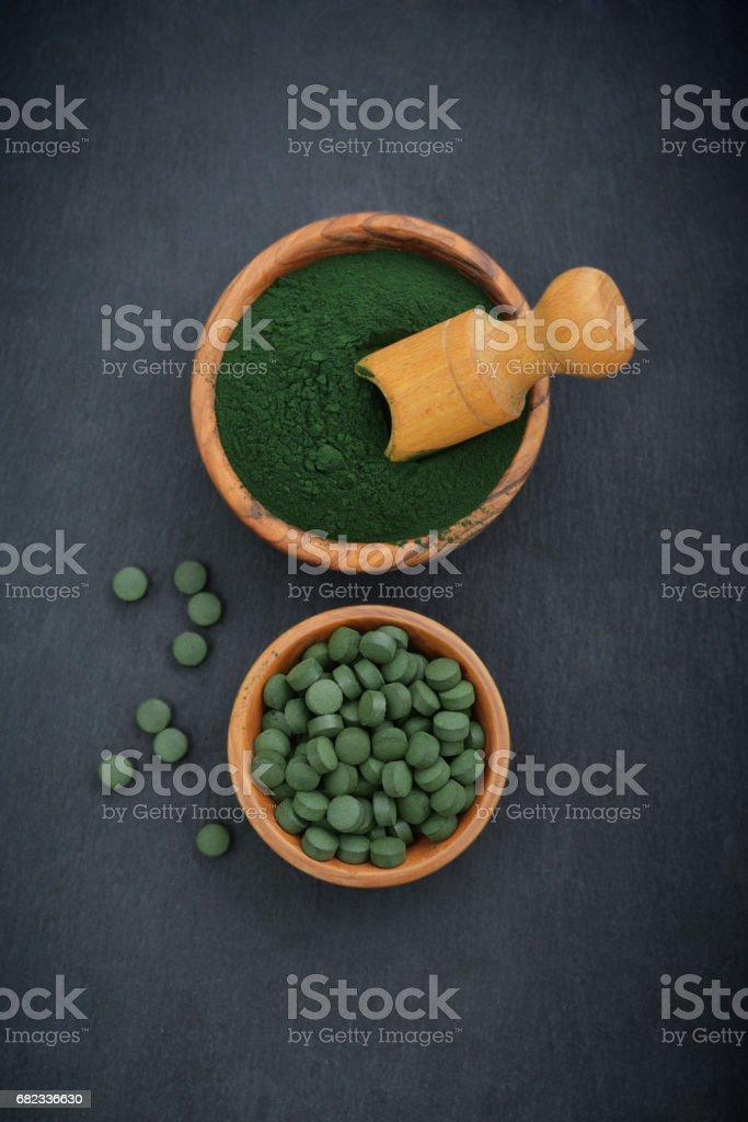 Spirulina royalty free stockfoto