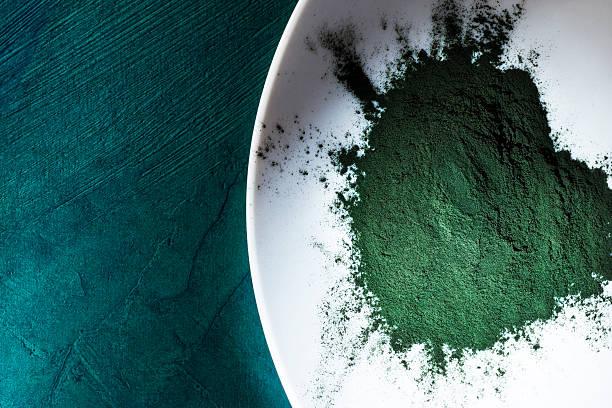 spirulina powder - spirulinabakterie bildbanksfoton och bilder