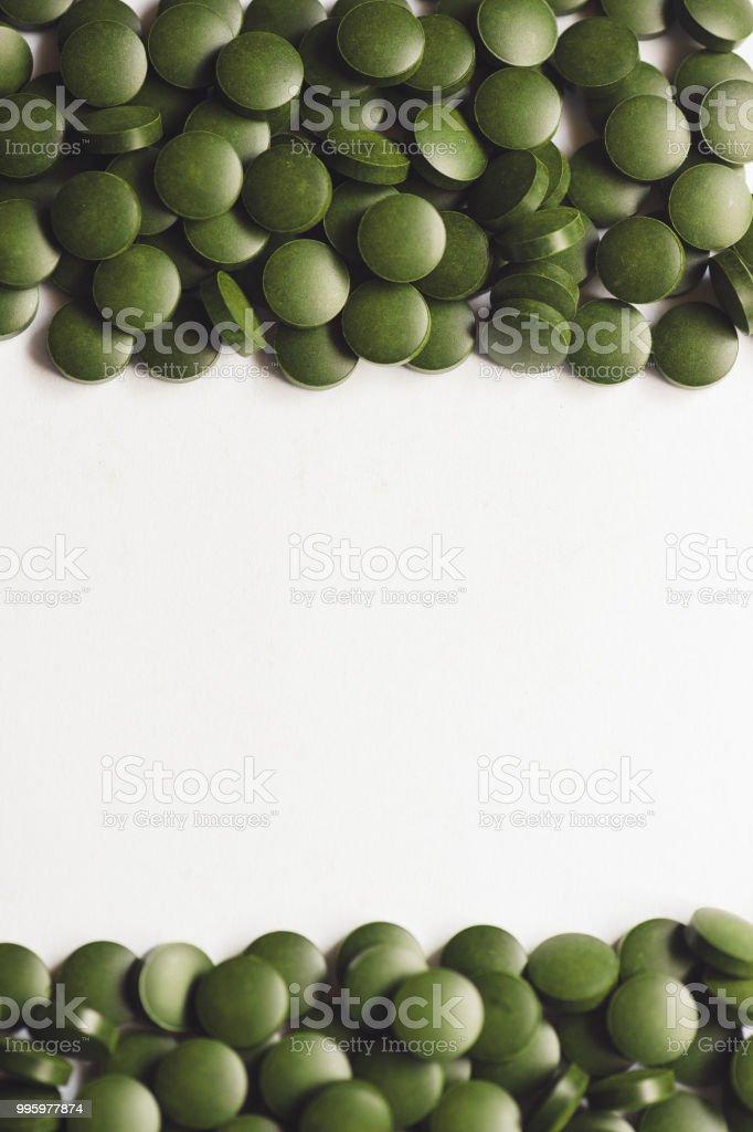 Spirulina Tablets, Chlorella Pills from above