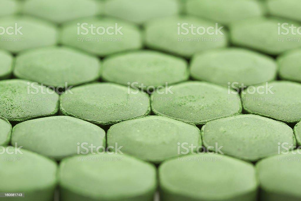 Spirulina Tablets royalty-free stock photo