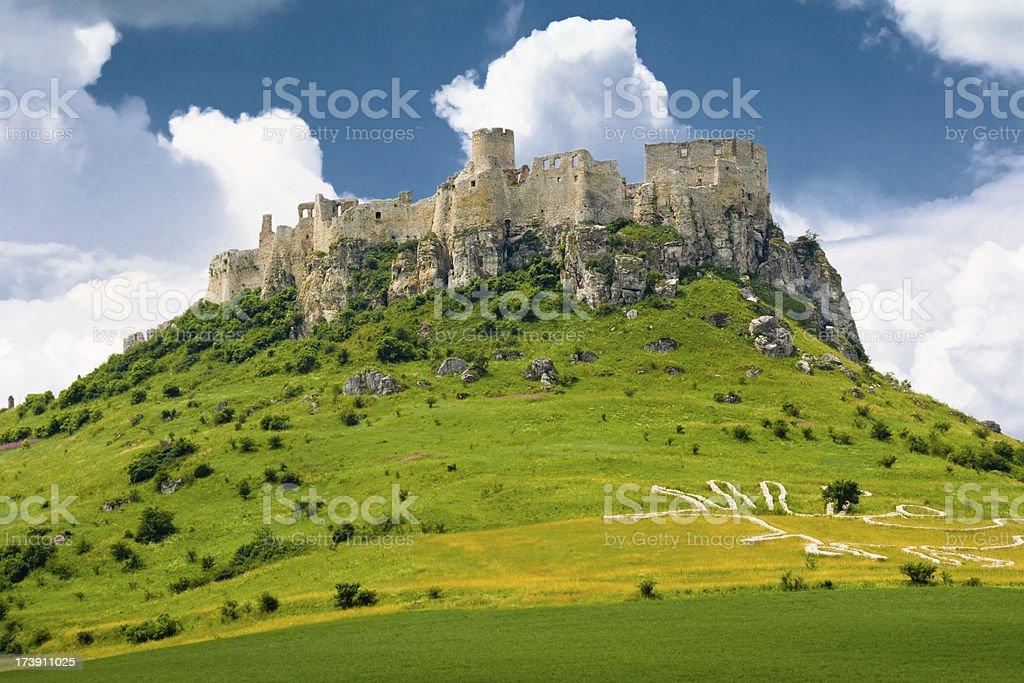 Spis Castle - Spissky hrad, Slovakia stock photo
