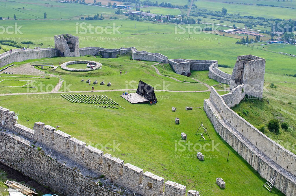 Spissky Hrad castle, Slovakia stock photo