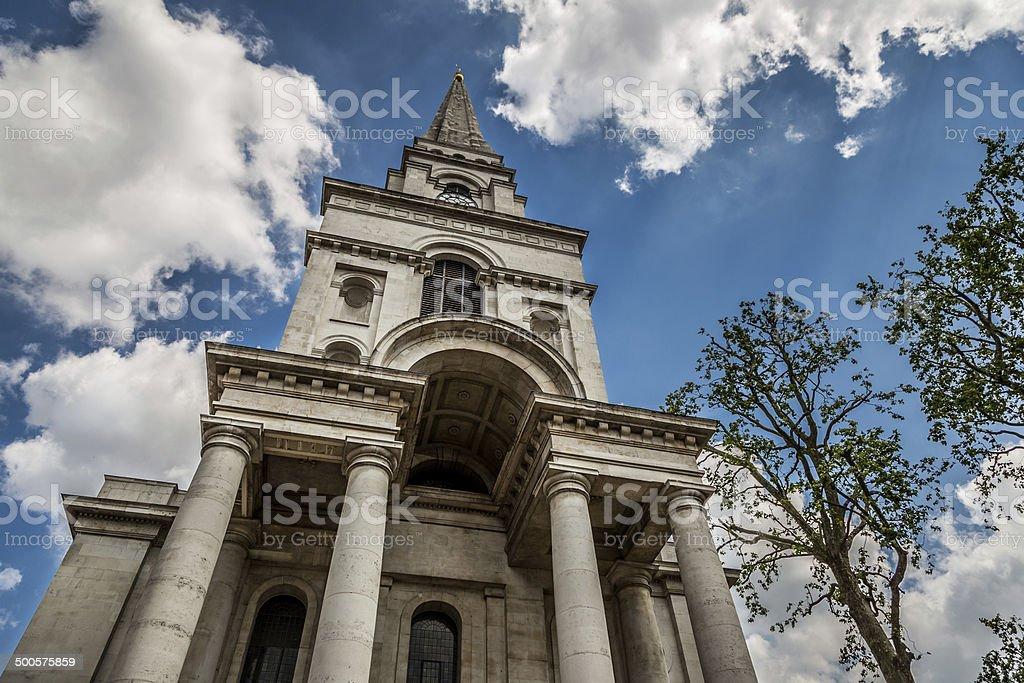Spitalfields Church stock photo