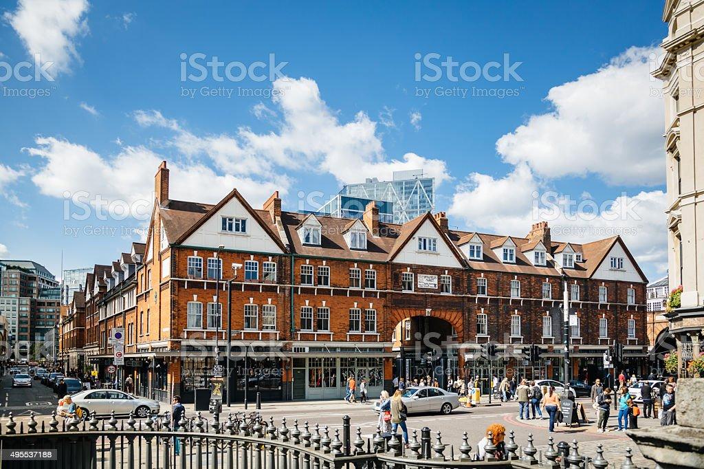 Spitalfields Market at East End of London, UK stock photo