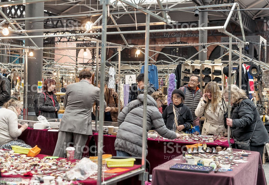 Spitalfields Market, East End of London royalty-free stock photo
