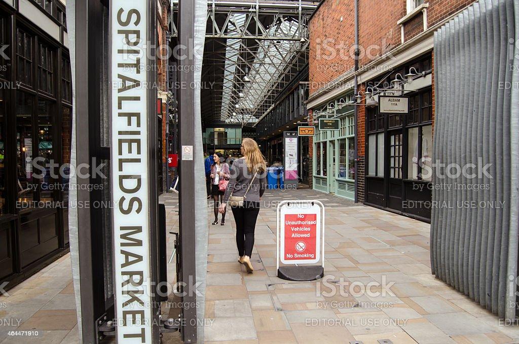 Spitalfields Market entrance, London stock photo