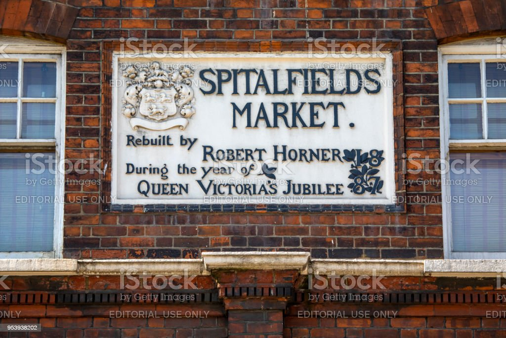 Spitalfields Market in London, UK stock photo