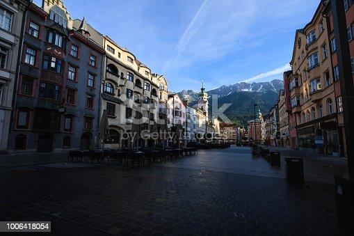 Spitalskirche or Roman Catholic church in Altstadt Old Town Innsbruck, Tyrol, Austria, Europe