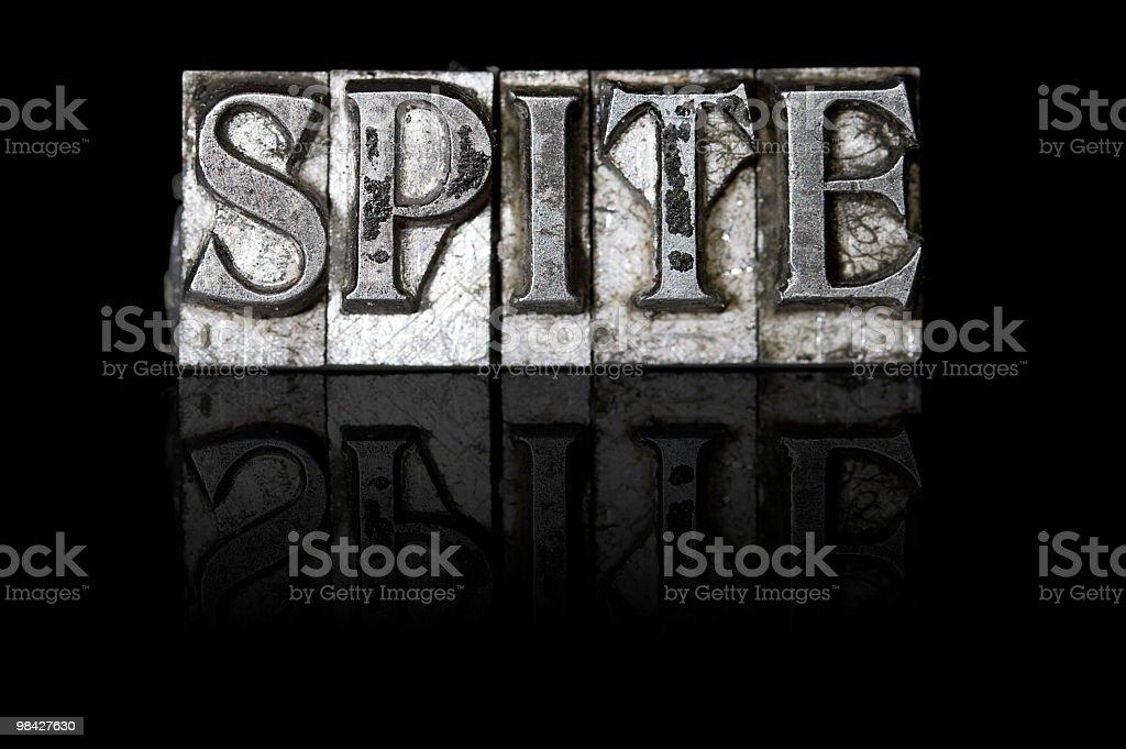 Spite royalty-free stock photo