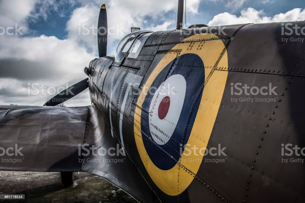 Spitfire Aeroplane stock photo