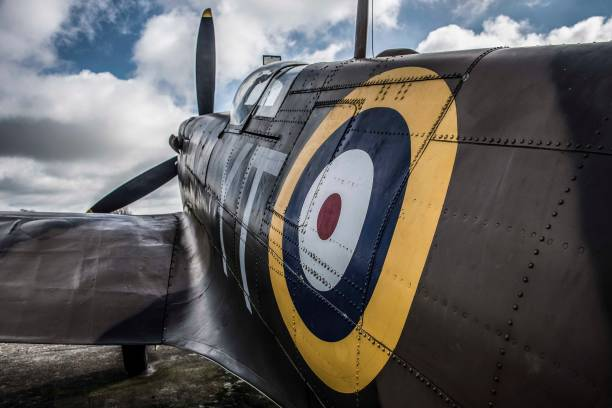 spitfire aeroplane - uk military stock photos and pictures