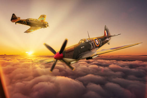 Spitfire and SK16 stock photo