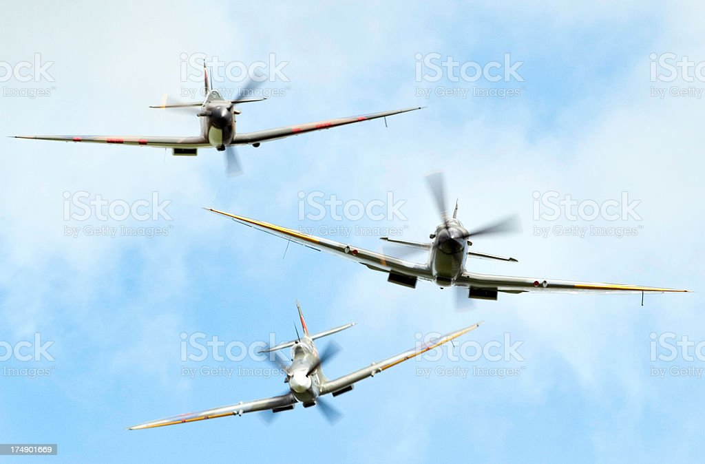 Spitfire Attack stock photo