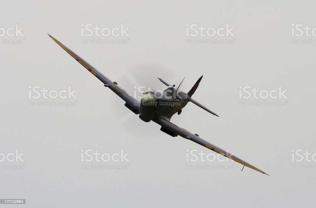 Spitfire attack! stock photo