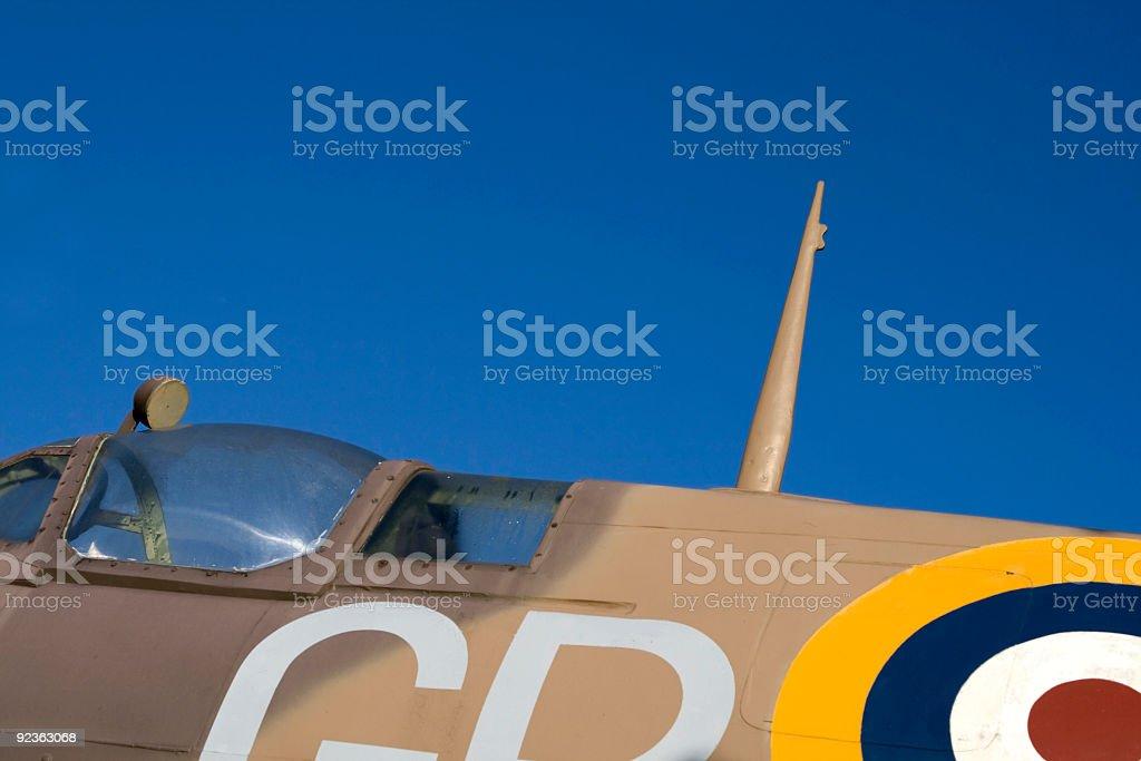 Spitfire cockpit royalty-free stock photo
