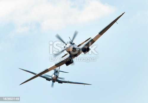 Two Supermarine Spitfire's in a dogfightTo see my other aviation images please click the image below