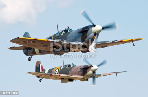 Two Supermarine Spitfire World War two fighter aircraftTo see my other aviation images please click the image below