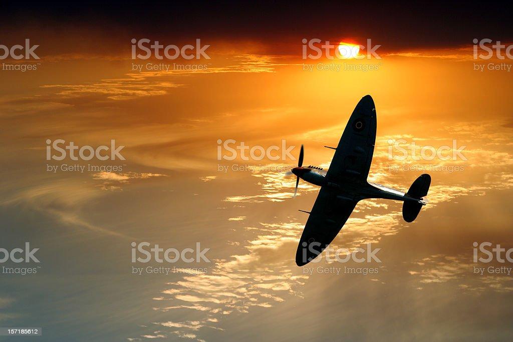 Spitfire Patrol royalty-free stock photo