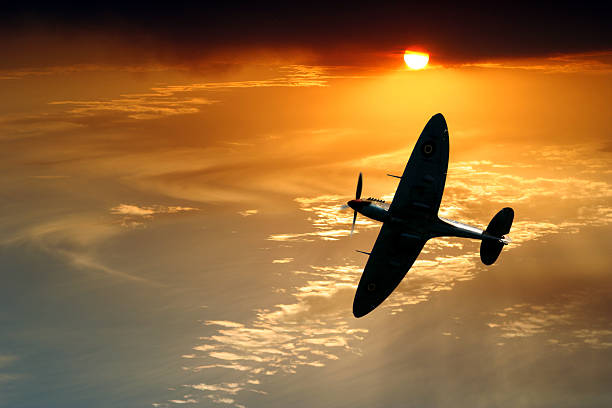 Spitfire Patrol stock photo