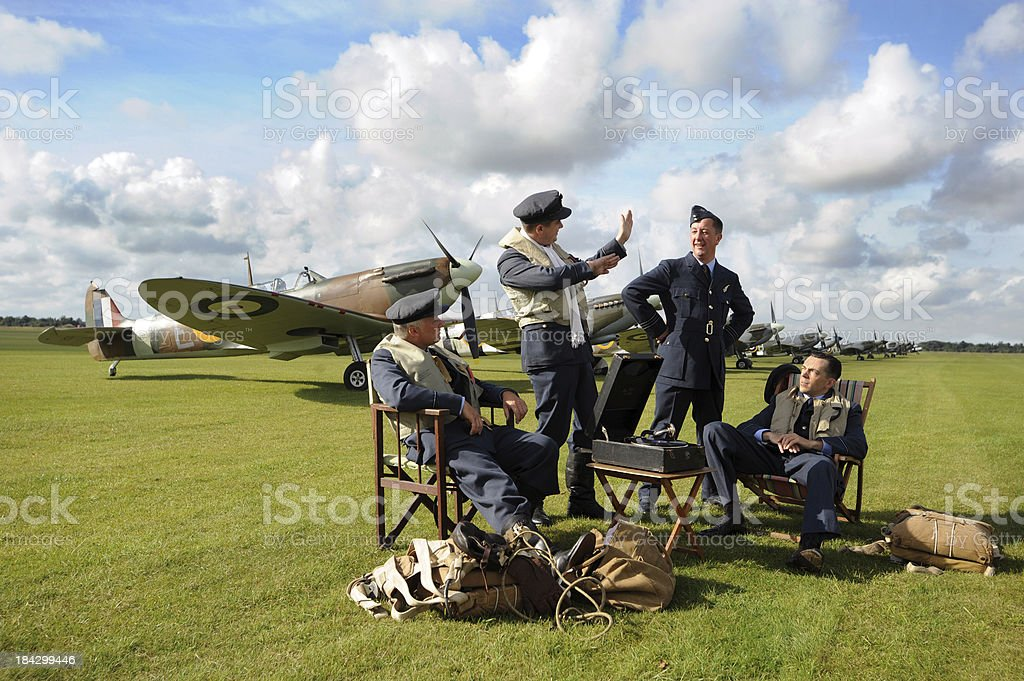 Spitfire Pilots stock photo
