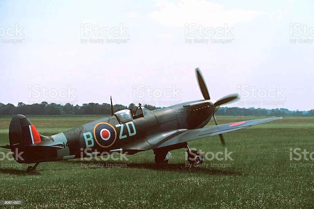 Spitfire Taxiing stock photo