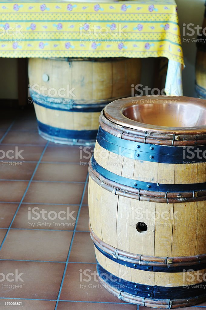 spittoon for wine-tasting stock photo