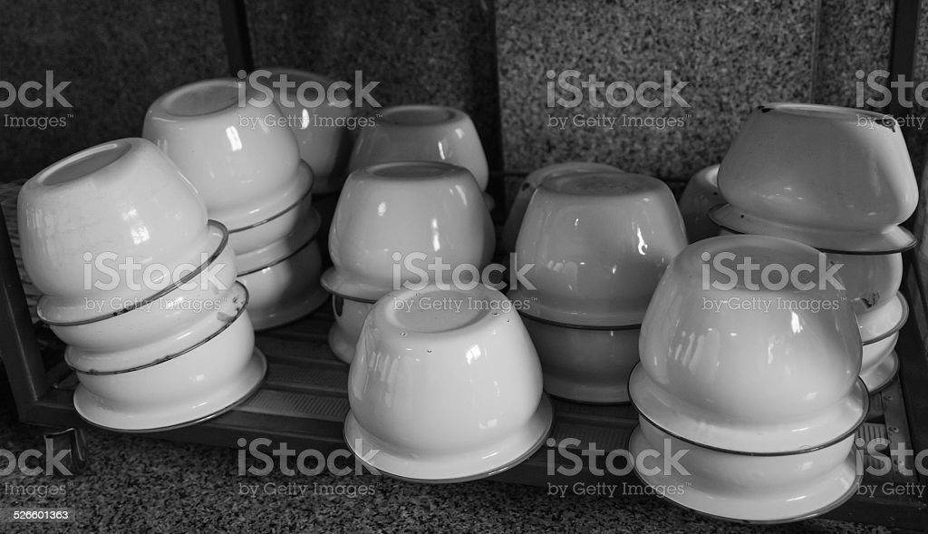 spittoon on the cabinet stock photo