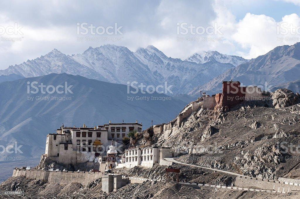 Spituk buddhist monastery stock photo