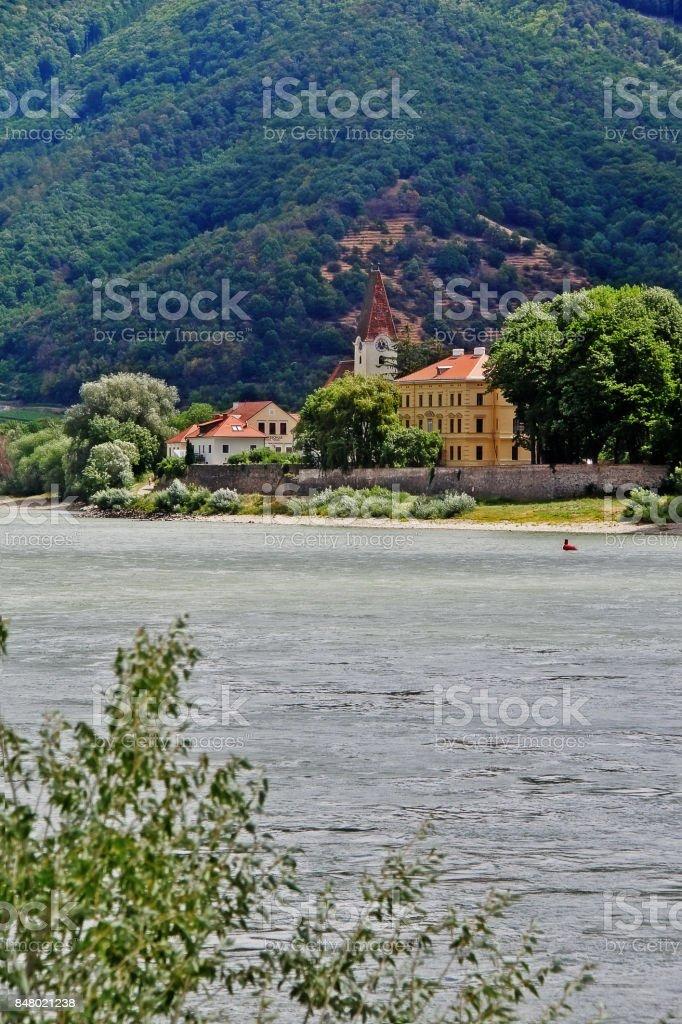Spitz an der Donau, a market town in the district of Krems-Land in the Austrian state of Lower Austria, Wachau Valley, Austria (Osterreich) stock photo