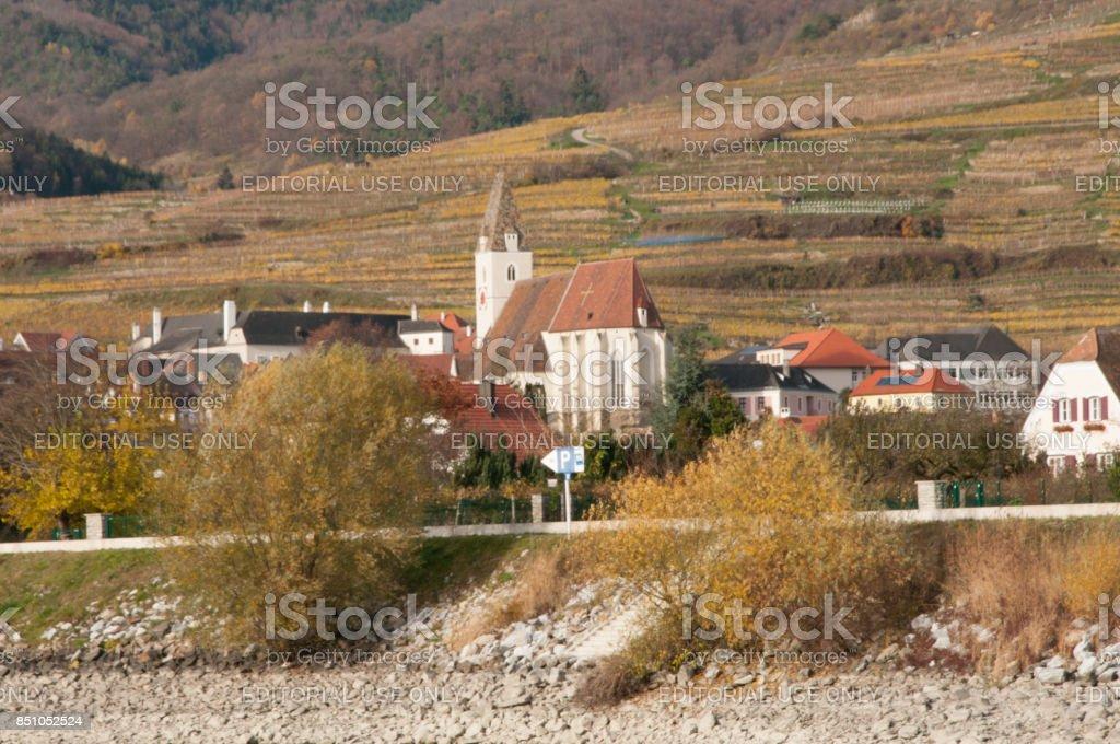 Spitz Church in Wachau Valley stock photo