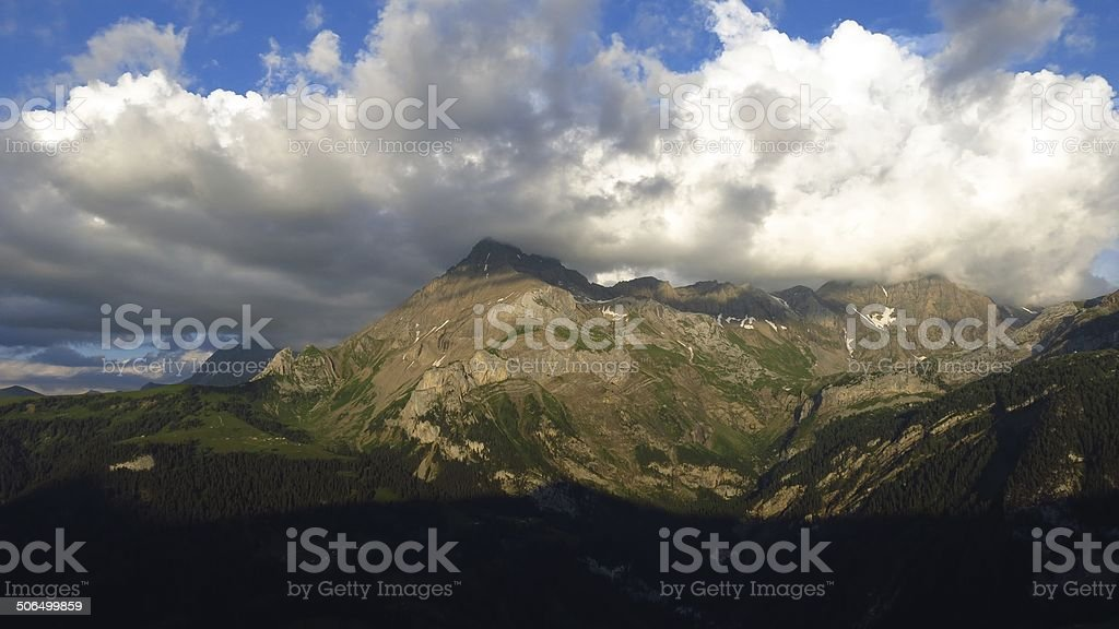 Spitzhorn in the evening stock photo