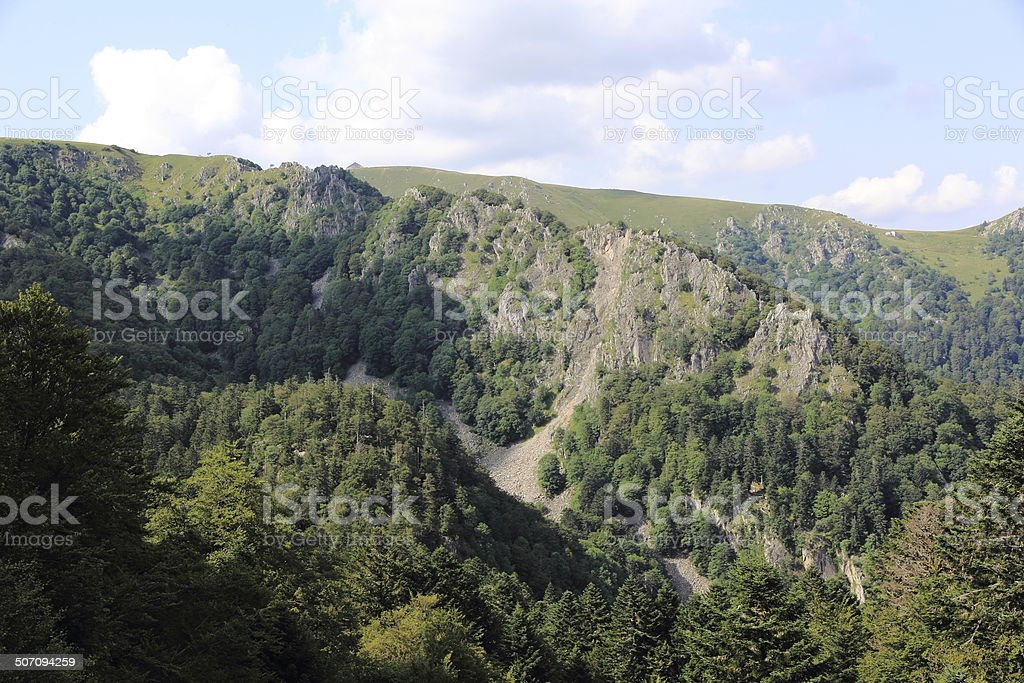 Spitzkoepfe in the valley of Munster stock photo