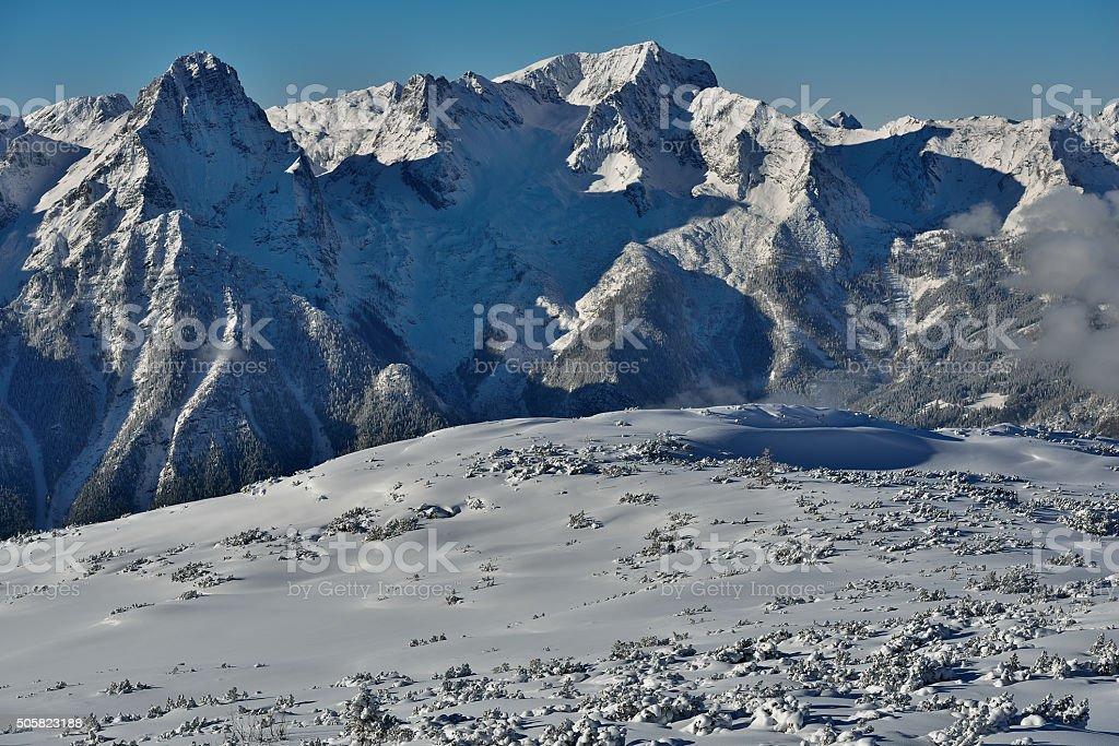 Spitzmauer and Priel - 2 mountains in Upper Austria stock photo