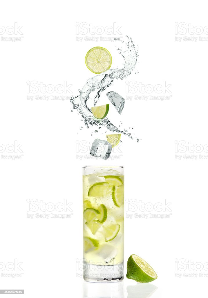 splash and cocktail stock photo