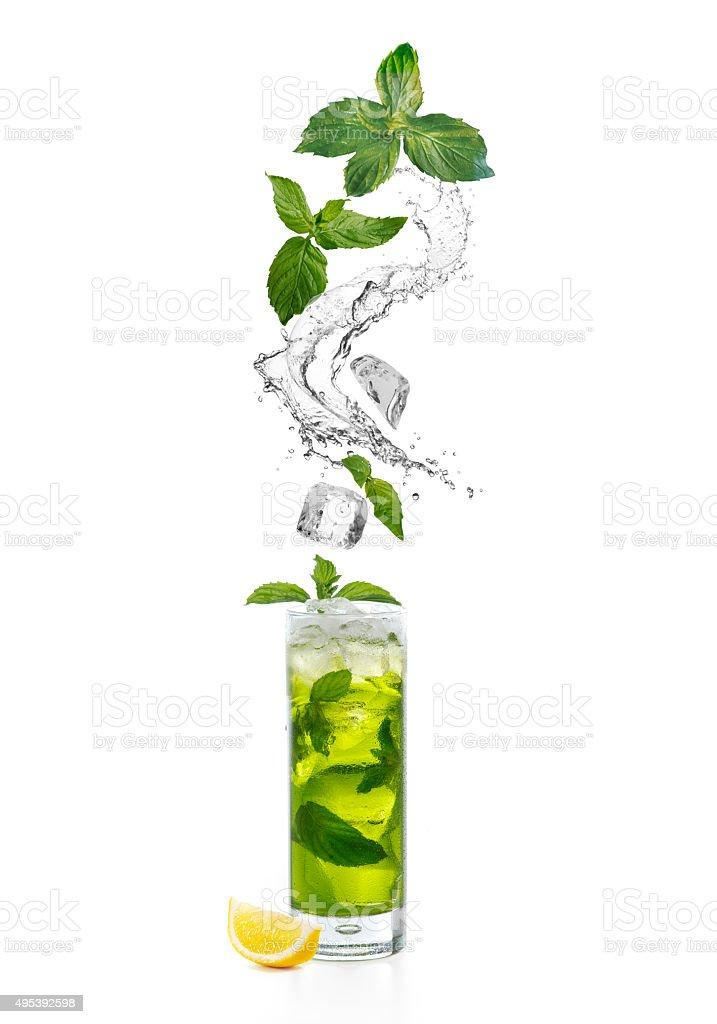 splash and cocktail stock photo