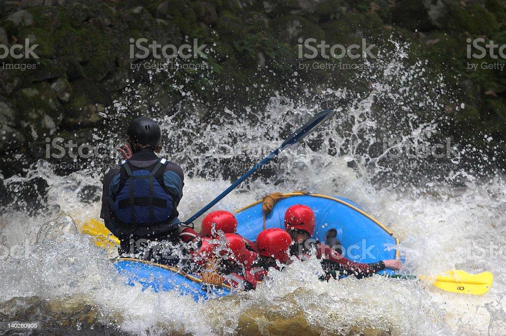 Splash down - white water rafting royalty-free stock photo