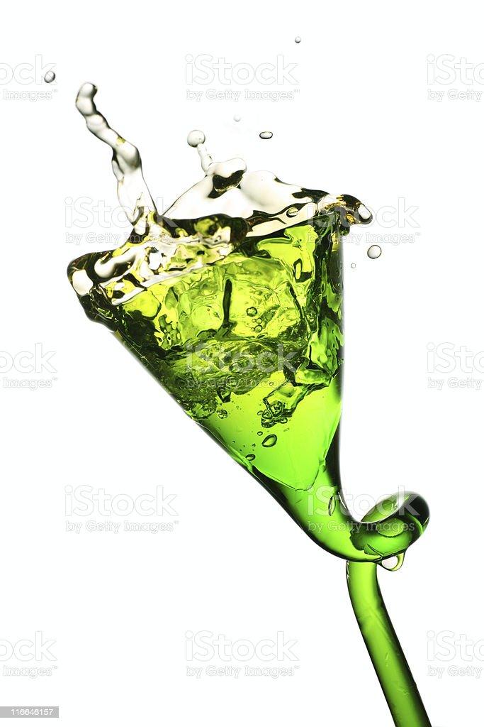 splash in a glass stock photo